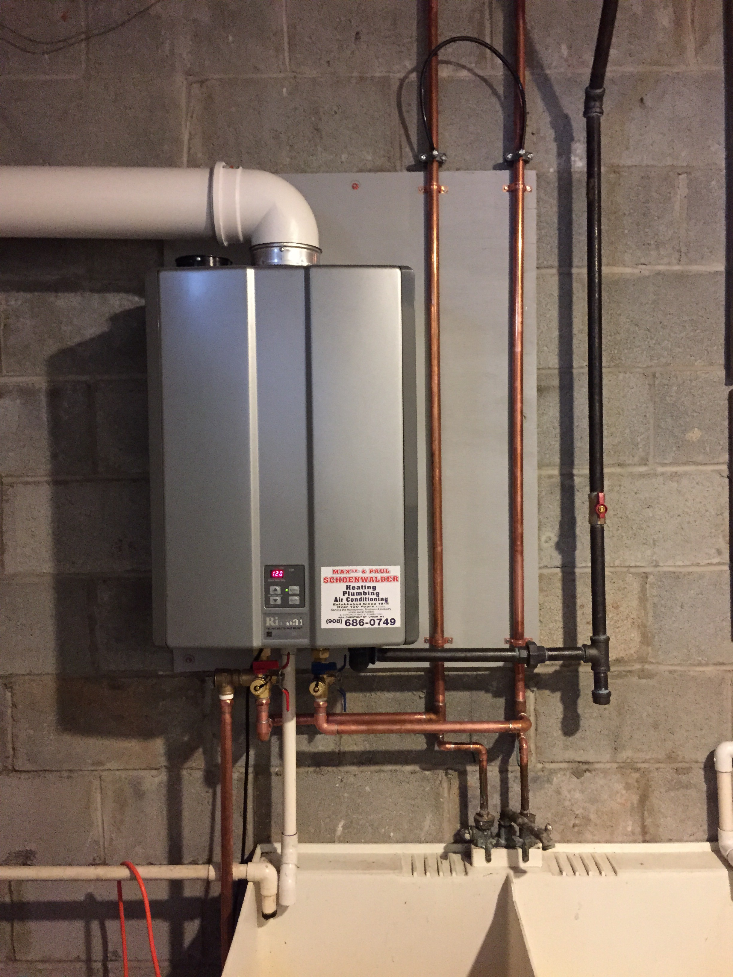 On demand/tankless water heater