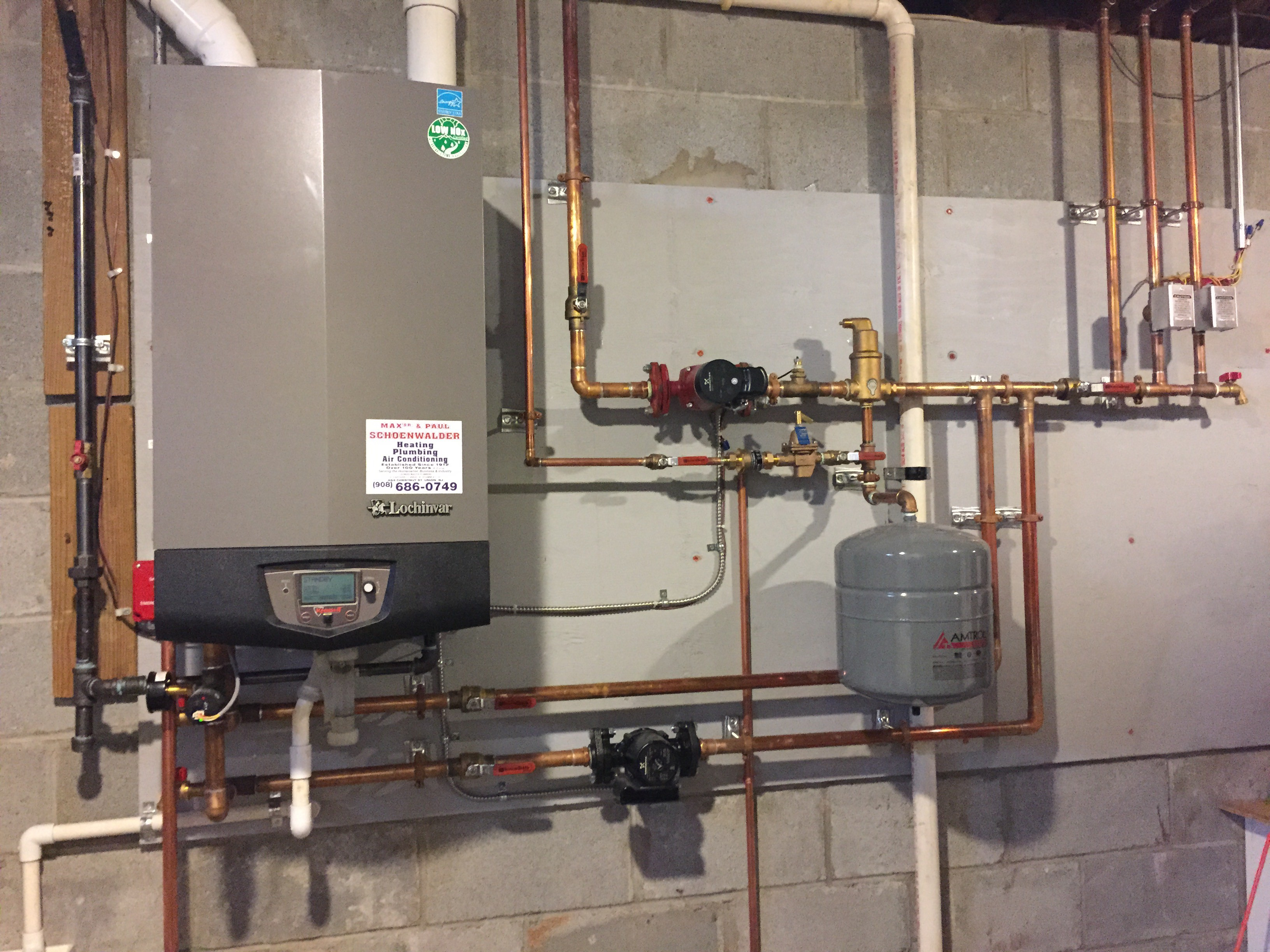 Max Sr. & Paul Schoenwalder will install gas hydronic (hot water ...