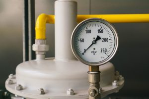 Industrial boiler gas regulation and metering module